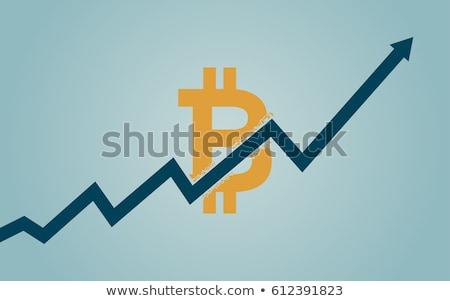 Bitcoin Breaking Through Background Concept Stock photo © Krisdog