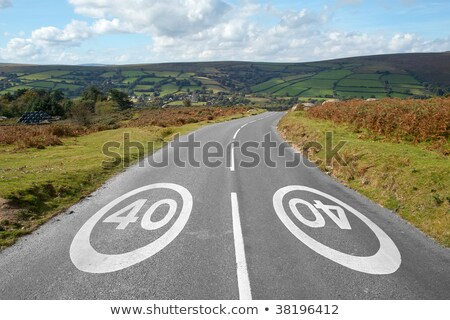 40 mph signs on a country road, Dartmoor England. Stock photo © latent