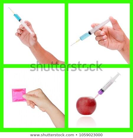 kadın · doktor · enjeksiyon · kadın · beyaz · kat - stok fotoğraf © traimak