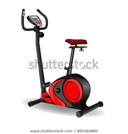 Stationary exercise bicycle vector illustration. Stock photo © RAStudio