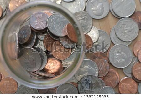 Takarékosság negyed pénz sas rózsaszín történelem Stock fotó © IS2