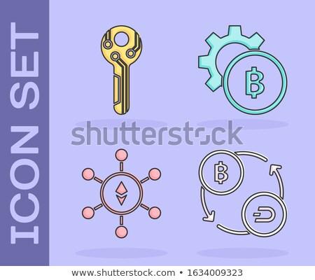 Fixy Blockchain Cryptocurrency - Vector Icon. Stock photo © tashatuvango