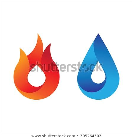 Stok fotoğraf: Yangın · alev · logo · mavi · enerji · dizayn