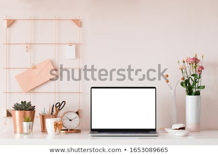 Styled workspace with laptop Stock photo © neirfy