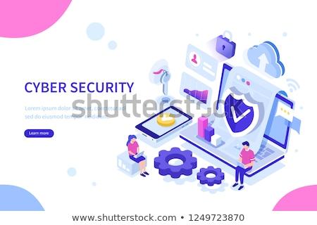 ilustração · 3d · armazenamento · de · dados · servidor · computador · mapa · segurança - foto stock © iserg