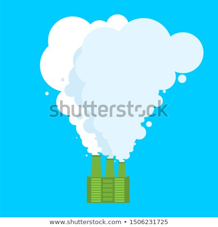 Ecologically clean plant. Clean smoke. Favorable factory Stock photo © MaryValery