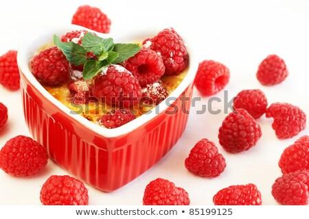 creme brulee in heart shaped bowl Stock photo © glorcza