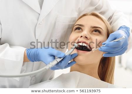 Dentysta zęby pop art retro vintage Zdjęcia stock © studiostoks