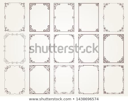 Gyűjtemény keret örvények négyszögletes forma elemek Stock fotó © robuart