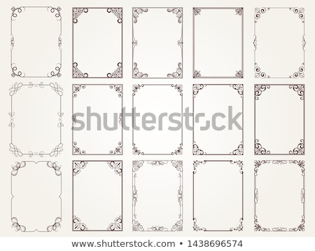 Collectie frames rechthoekig vorm communie Stockfoto © robuart