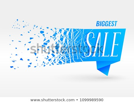 blue origami sale banner with particle effect Stock photo © SArts