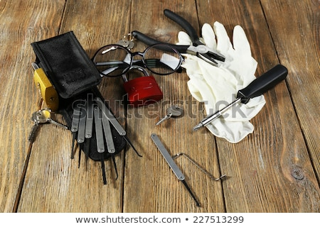 Burglar with tool. Stock photo © ra2studio