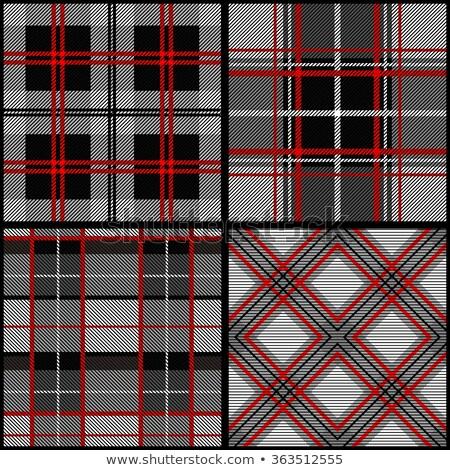 Black and red tartan vector seamless pattern background 4 Stock photo © sanjanovakovic
