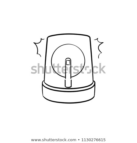 Police car with siren hand drawn outline doodle icon. Stock photo © RAStudio