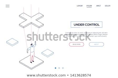 Marionett üzletember vonal terv stílus illusztráció Stock fotó © Decorwithme