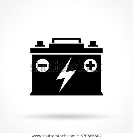voiture · batterie · icônes · isolé · énergie · pouvoir - photo stock © dashadima