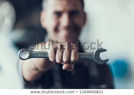 Portrait Of A Car Mechanic Holding Spanner Stock photo © AndreyPopov