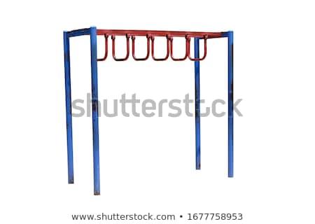 playground monkey bar white background stock photo © bluering