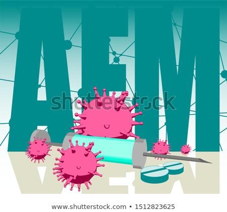 diagnoza · medycznych · wydrukowane · niebieski · pigułki · strzykawki - zdjęcia stock © lightsource