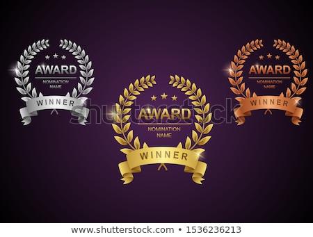 Golden Awards for Winner Set Vector Illustration Stock photo © robuart