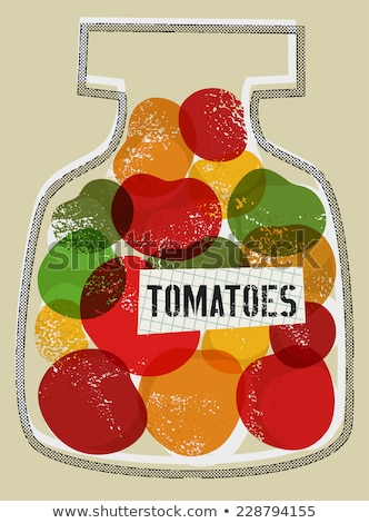 Preserved Food Homemade Products Colorful Poster Stock photo © robuart