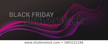 modern black friday sale banner with colorful wavy lines Stock photo © SArts