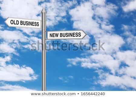 Innovation - Message on Blue Arrow. 3D Render. Stock photo © tashatuvango