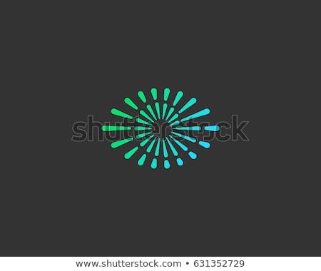 Oneindigheid ogen vector icon embleem abstract Stockfoto © blaskorizov