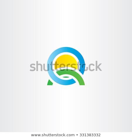 Natuur landschap icon logo logo-ontwerp Stockfoto © blaskorizov