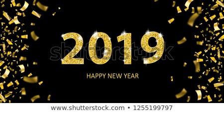 Golden Confetti Transparent 2019 Header Stock photo © limbi007