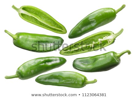 Anaheim chile pepper, split, paths Stock photo © maxsol7