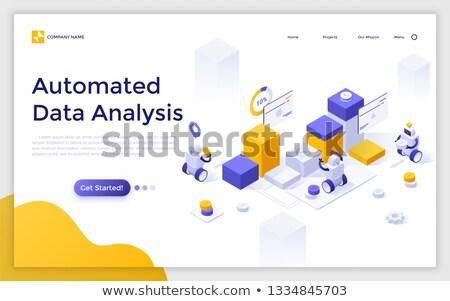 Automated data analysis concept vector isometric illustration. Stock photo © RAStudio