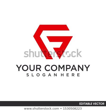 Levél logo negatív űr ikon vektor Stock fotó © blaskorizov