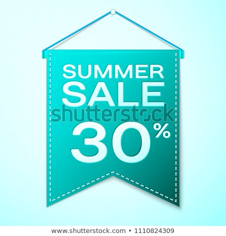 Best Summer Sale 30 Percent Vector Illustration Stock photo © robuart
