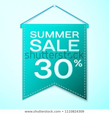 Legjobb nyár vásár 30 százalék plakátok Stock fotó © robuart
