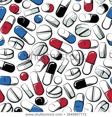 Pigułki odizolowany medycznych farmaceutyczny ilustracja Zdjęcia stock © MaryValery
