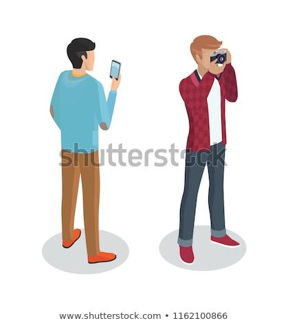 profesional · carácter · ilustración · hombre · televisión - foto stock © robuart