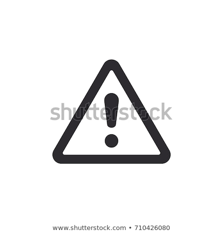 Icon of Warning hand Stock photo © angelp