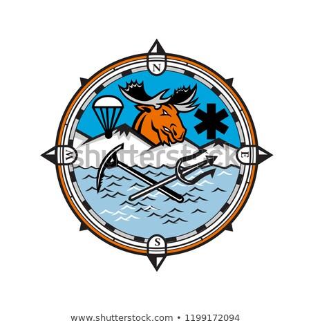 Moose Pararescue Mascot Stock photo © patrimonio