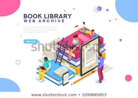 Uczelni akademicki edukacji szablon złoty trofeum Zdjęcia stock © robuart