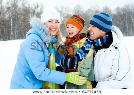 Wintertime Couple Spending Time Outdoors in Winter Stock photo © robuart