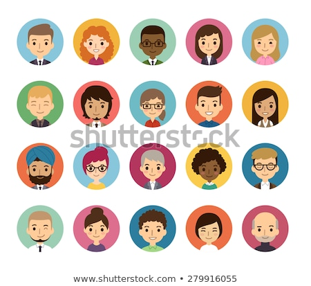 cartoon round avatar picture Stock photo © vector1st