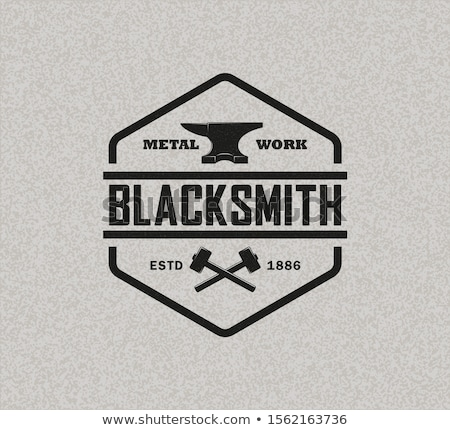 Color vintage Metallurgy emblem Foto stock © netkov1
