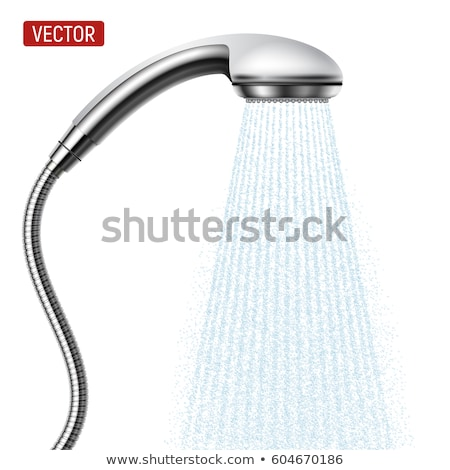 Сток-фото: Water Flowing From Head Shower