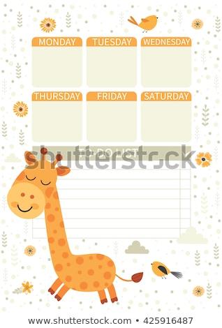 Giraffe nota sjabloon illustratie textuur achtergrond Stockfoto © bluering