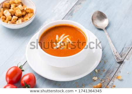 ブルーチーズ 赤 ボウル 木製 食品 表 ストックフォト © Melnyk