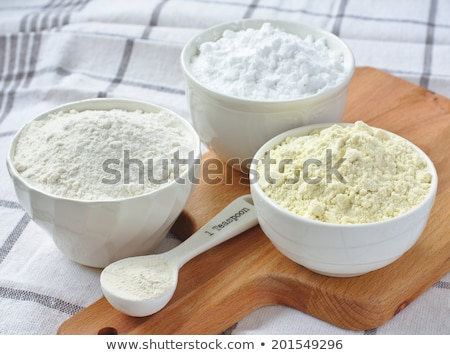 Stock photo: Three bowls with gluten free flour