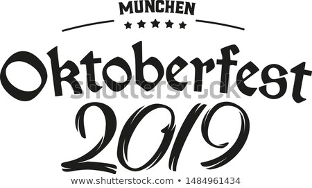 Stock photo: Bavarian Oktoberfest 2019 Header Beer Coaster