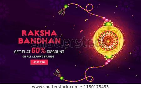 raksha bandhan sale banner with golden rakhi (wristband) Stock photo © SArts