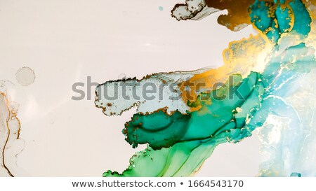Coloured Watercolor Background. Green and gold circle Stock photo © Natalia_1947